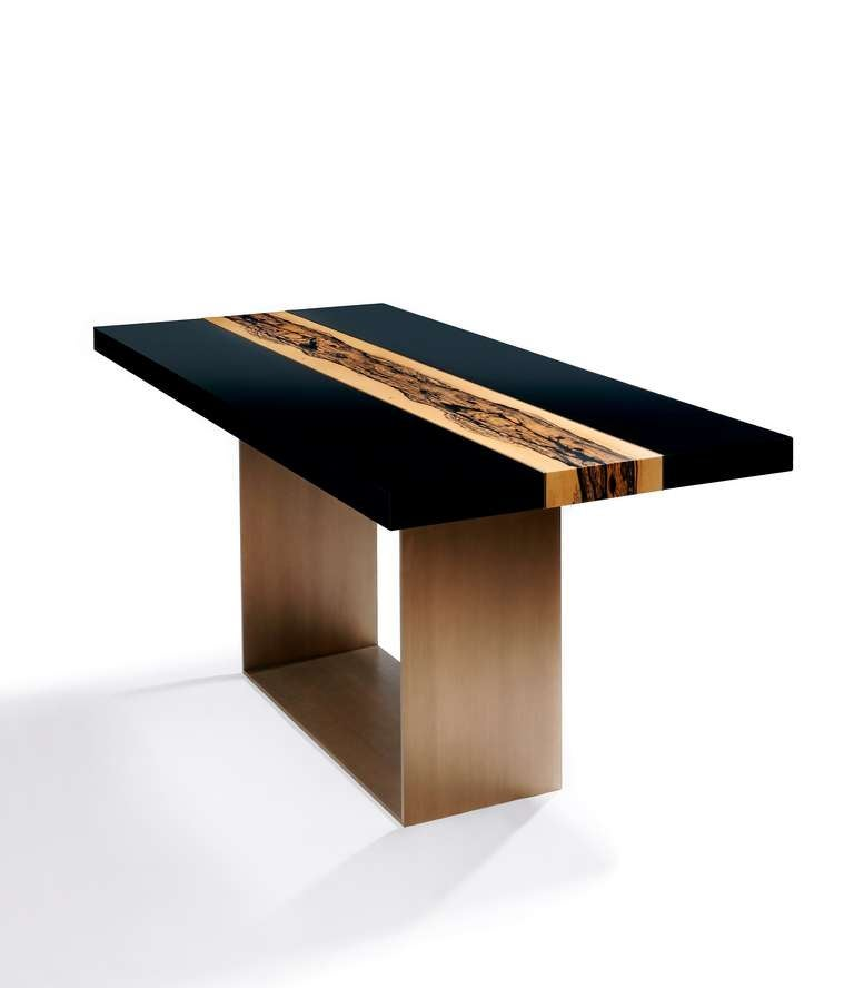 Table river by herve langlais for galerie negropontes for Table design river
