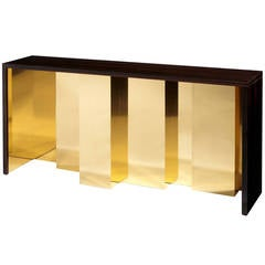 """Vibration"" Console Table by Hervé Langlais for Galerie Negropontes"