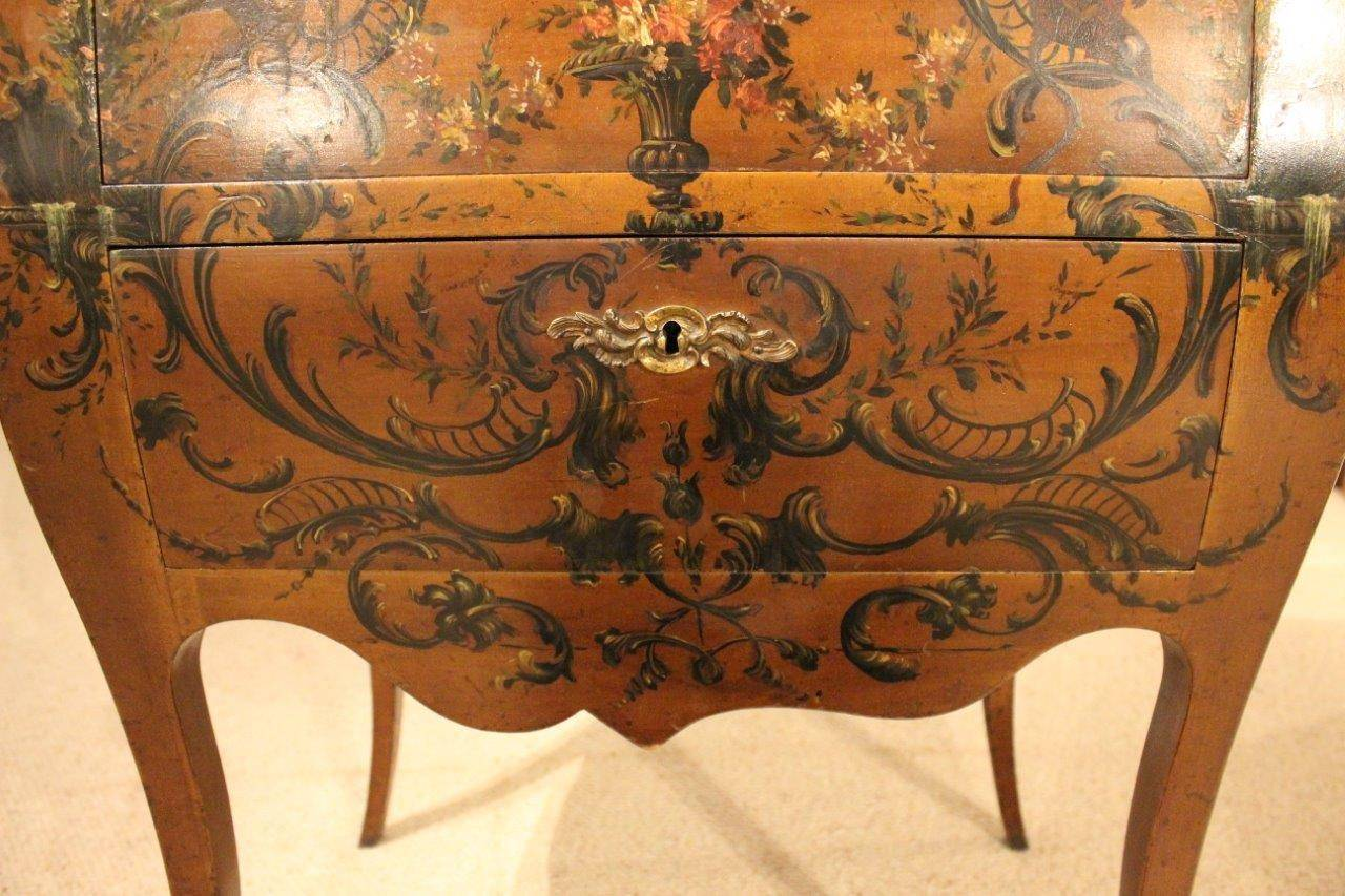 vernis martin french bombe shaped commode or chest at 1stdibs. Black Bedroom Furniture Sets. Home Design Ideas