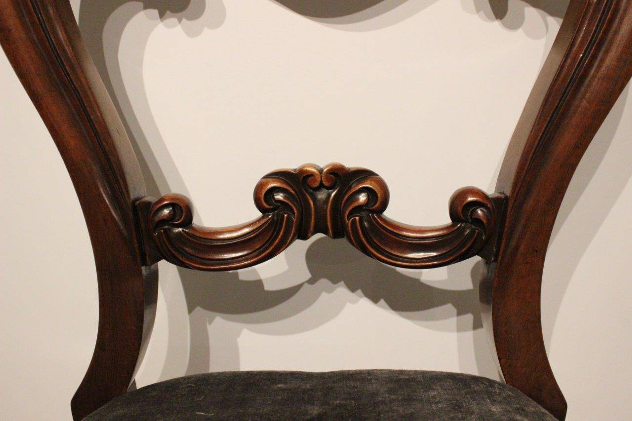 Set of Six Mahogany Victorian Period Antique Dining Chairs For ...