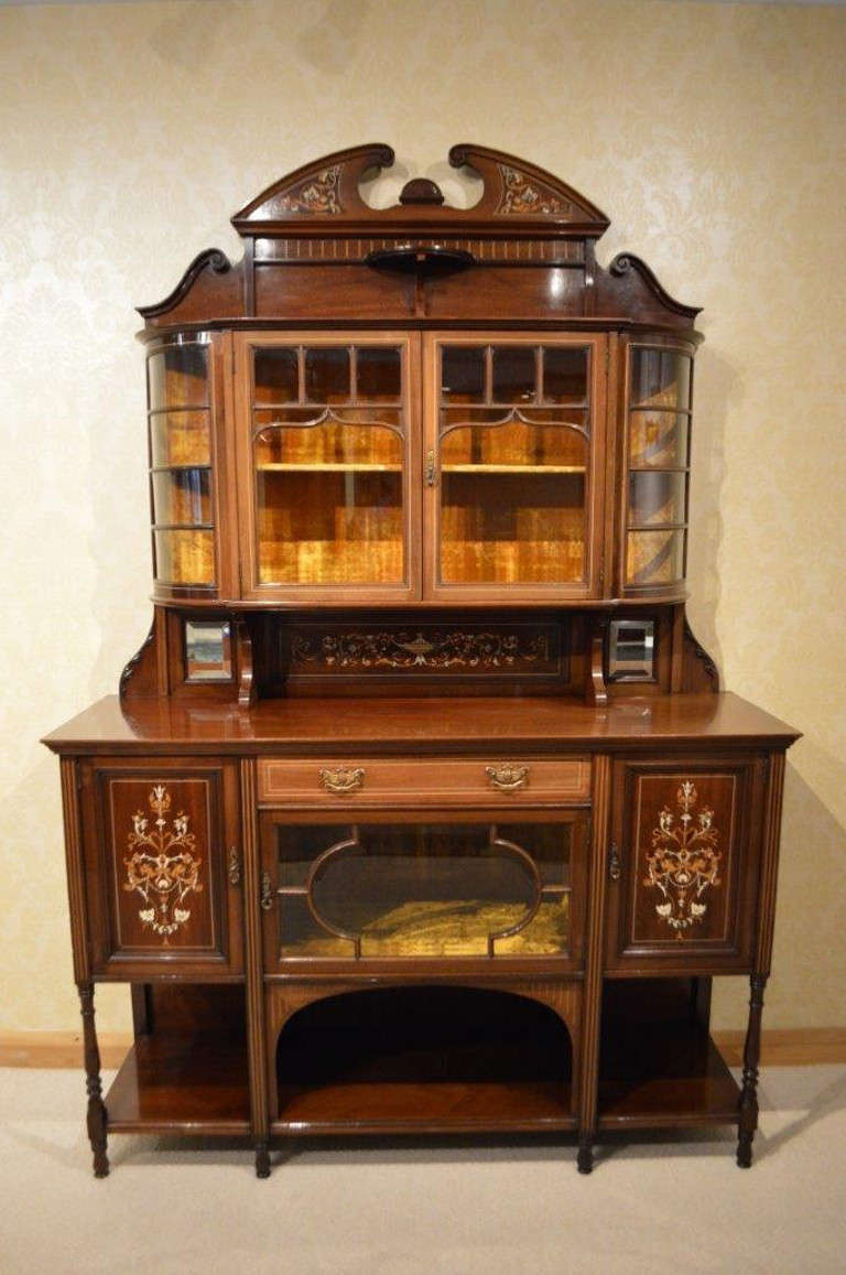 mahogany inlaid late victorian antique chiffonier at 1stdibs. Black Bedroom Furniture Sets. Home Design Ideas