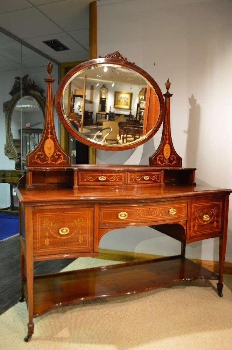 a magnificent and rare mahogany inlaid late victorian period bedroom suite at 1stdibs. Black Bedroom Furniture Sets. Home Design Ideas