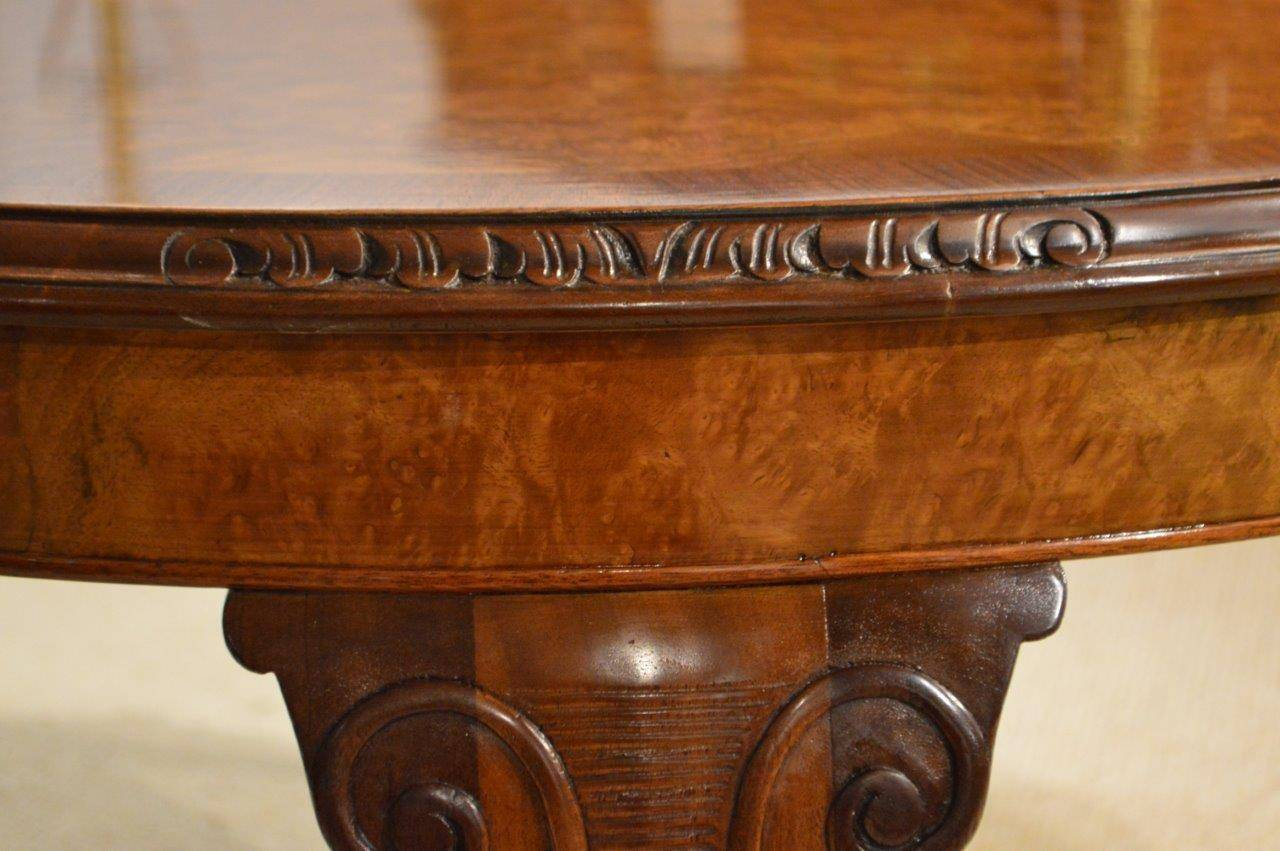 Burr Walnut 1920s Period Antique Circular Coffee Table Image 2