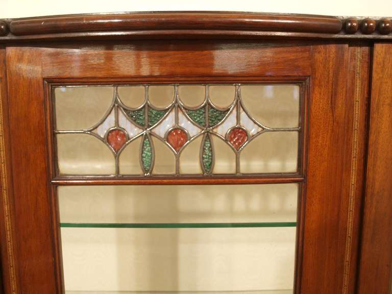 Mahogany arts and crafts period antique display cabinet at for Arts and crafts storage cabinet