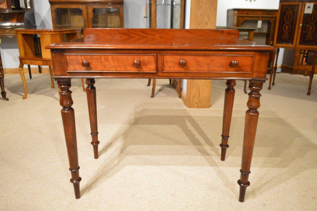 A Mahogany Early Victorian Period Two Drawer Side Table 3