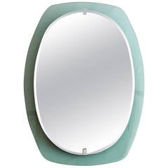 Green italian mirror from the 60´s