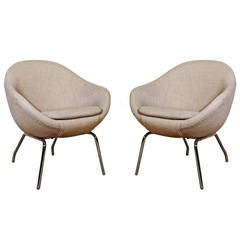 Pair of Small Italian Armchairs from the 1960s