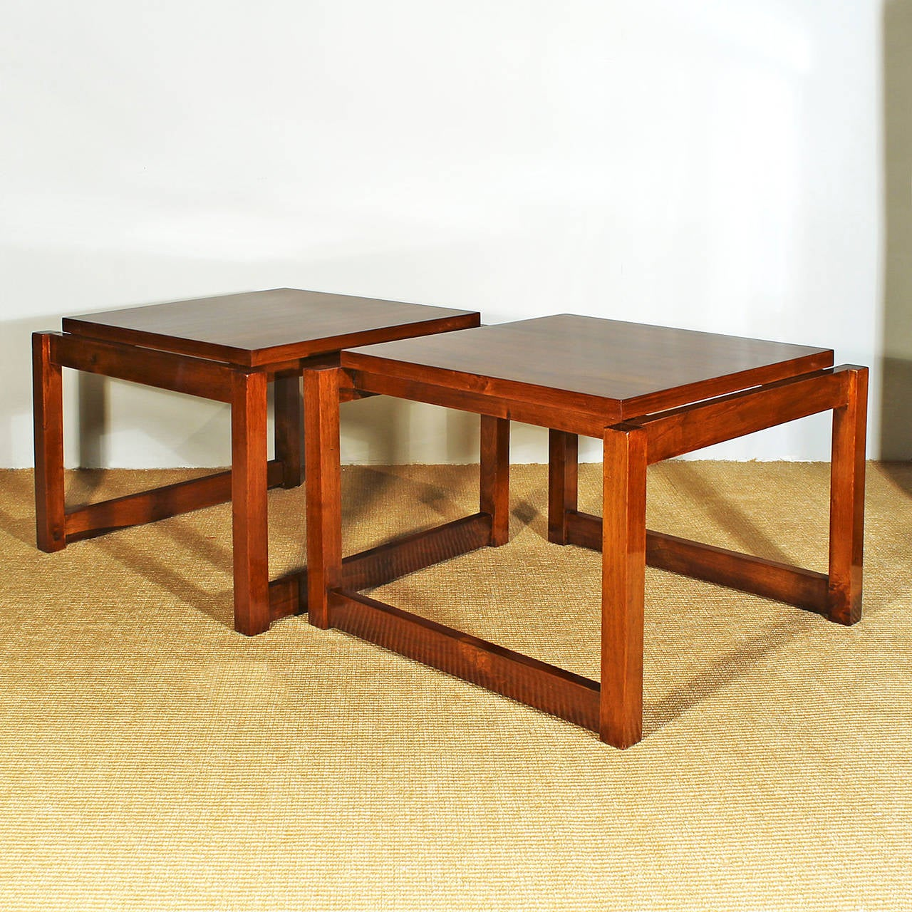 Pair of cubist style coffee tables from the 60 s for sale for 60s style coffee table
