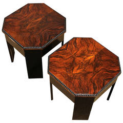 Pair of Art Deco Spanish Mini Tables