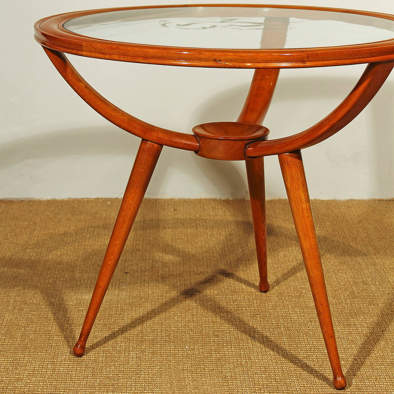 Round Coffee Table Uk Sale: 1940s Round Tripod Side Or Coffee Table, Beechwood