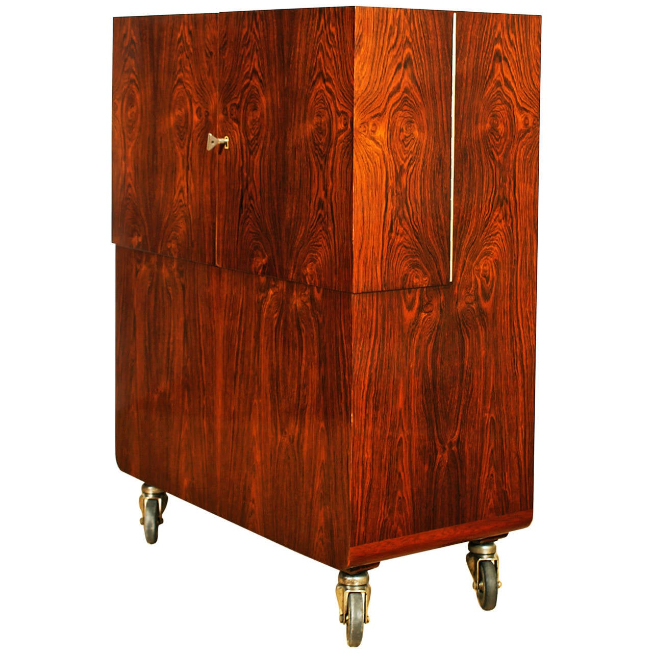 art deco dry bar cart by de coene fr res at 1stdibs. Black Bedroom Furniture Sets. Home Design Ideas