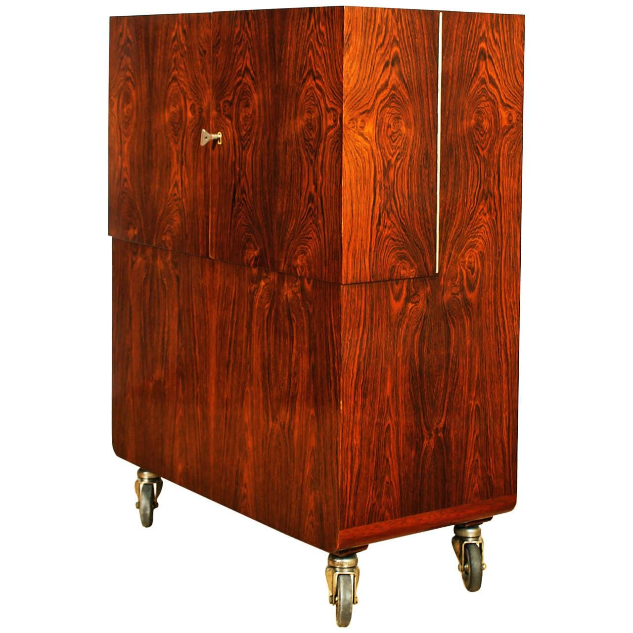 art deco dry bar cart by de coene fr res at 1stdibs. Black Bedroom Furniture Sets. Home Design Ideas