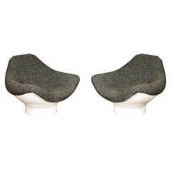 Pair of Rodica Lounge Armchairs by Mario Brunu
