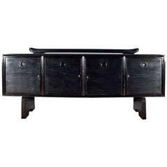 1930s Art Deco Sideboard in Ebonized Oak by Pier Luigi Colli, Italy