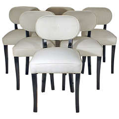 Set of Six Art Deco Dining Chairs by De Coene