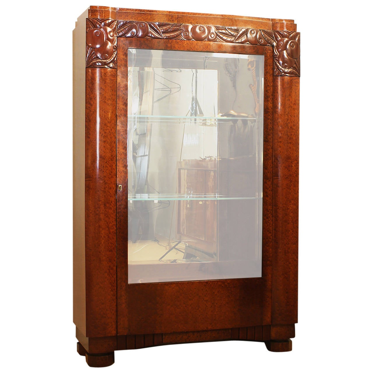 art deco vitrine at 1stdibs. Black Bedroom Furniture Sets. Home Design Ideas