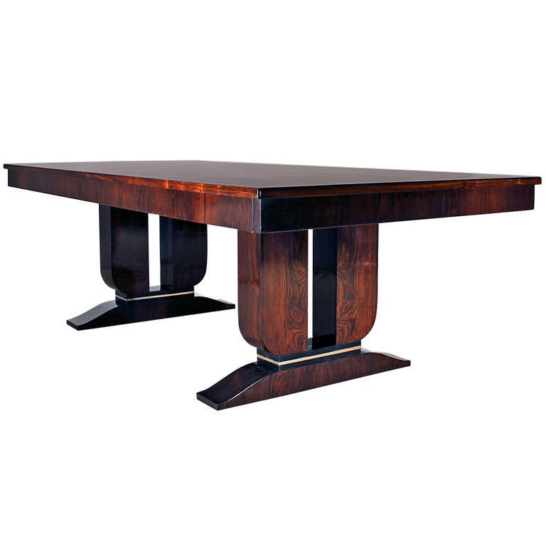 Art deco dining table at 1stdibs - Art deco dining room table ...