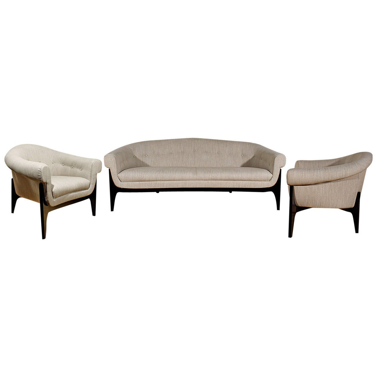 Italian living room set from the 1950s at 1stdibs for Italian living room furniture