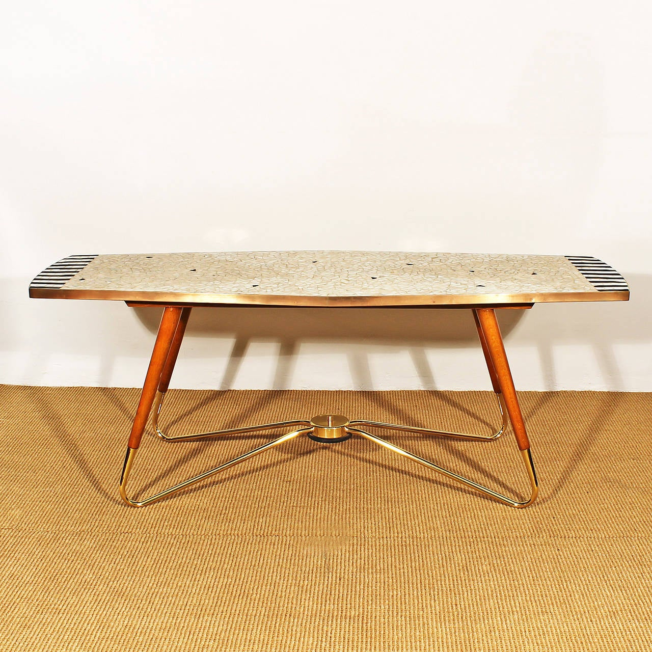 Mosaic Coffee Table From The 1950s At 1stdibs