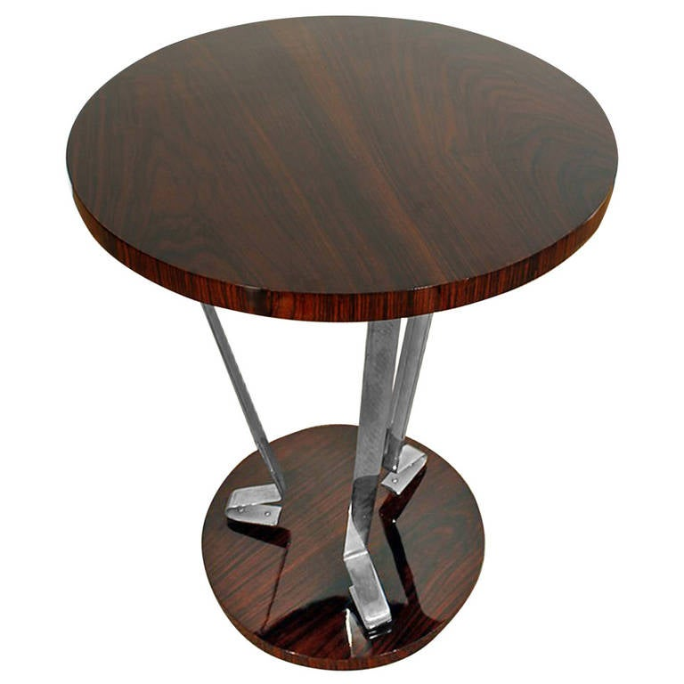 Tall art deco side table at 1stdibs for Tall side table