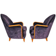 Pair of small Art Deco armchairs
