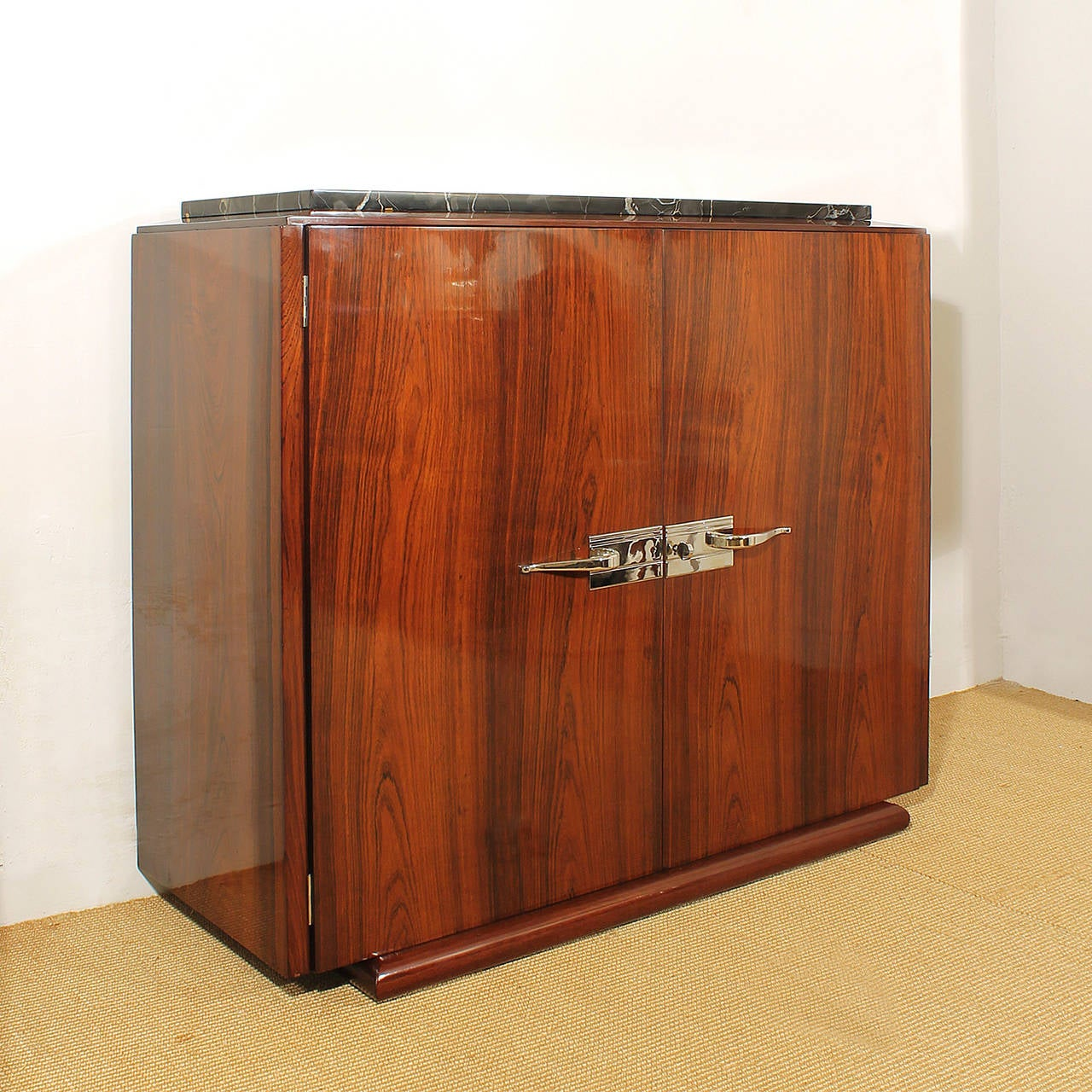 art deco small sideboard at 1stdibs. Black Bedroom Furniture Sets. Home Design Ideas