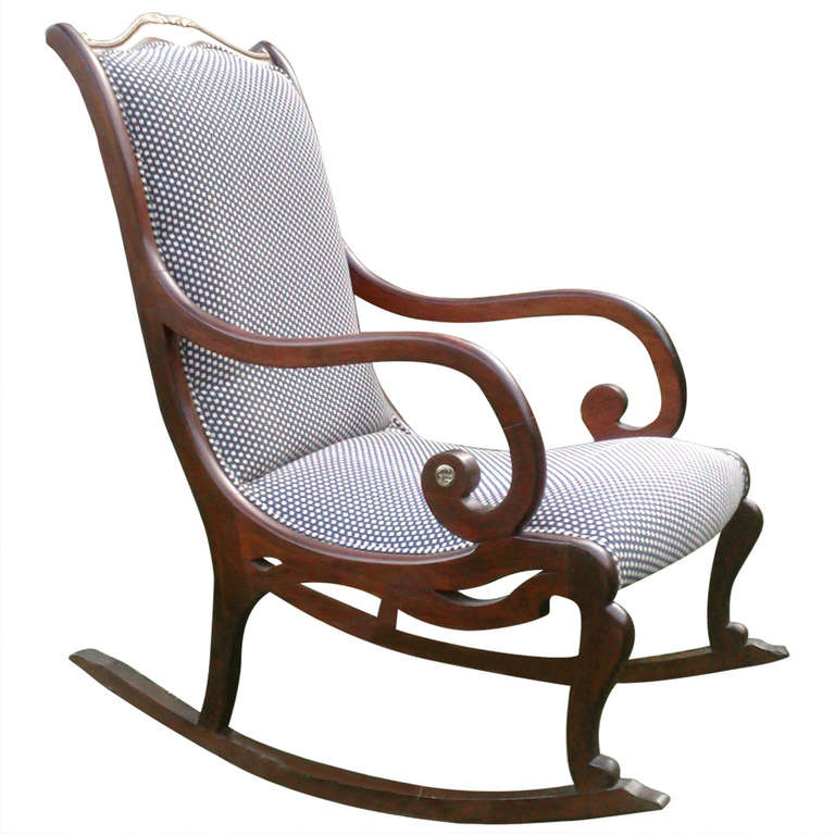 Victorian Style Rocking Chair At 1stdibs