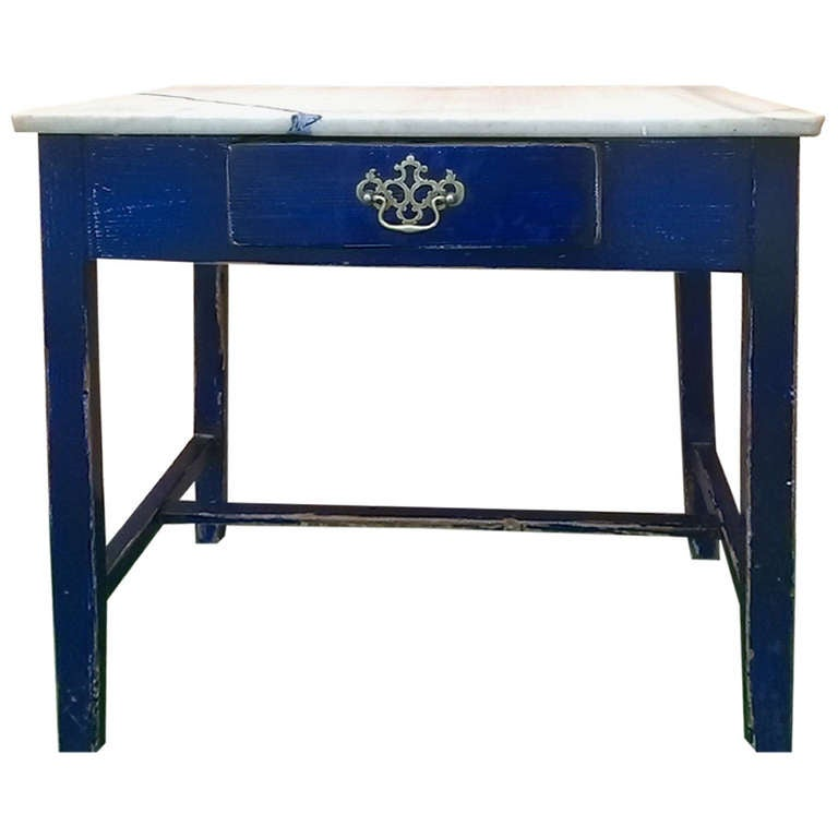 19th Century English Marble Topped Side Table At 1stdibs