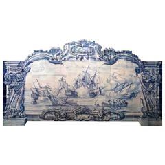 18th Century Rococo Tile Panel
