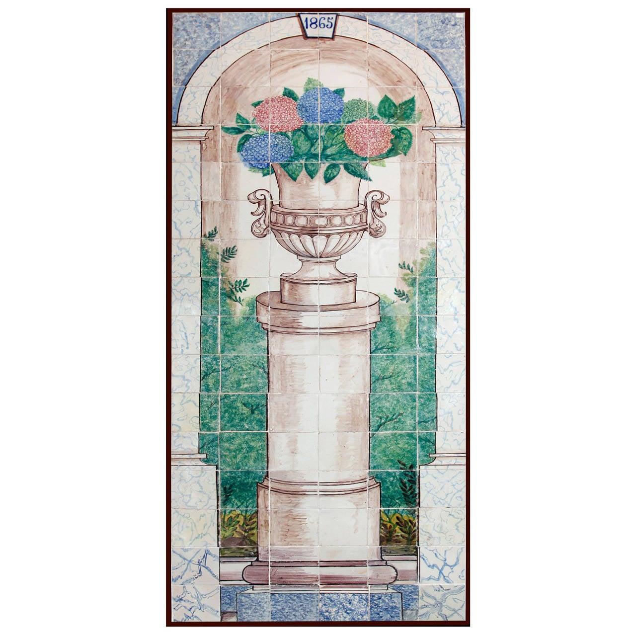 19th century portuguese tile mural for sale at 1stdibs. Black Bedroom Furniture Sets. Home Design Ideas