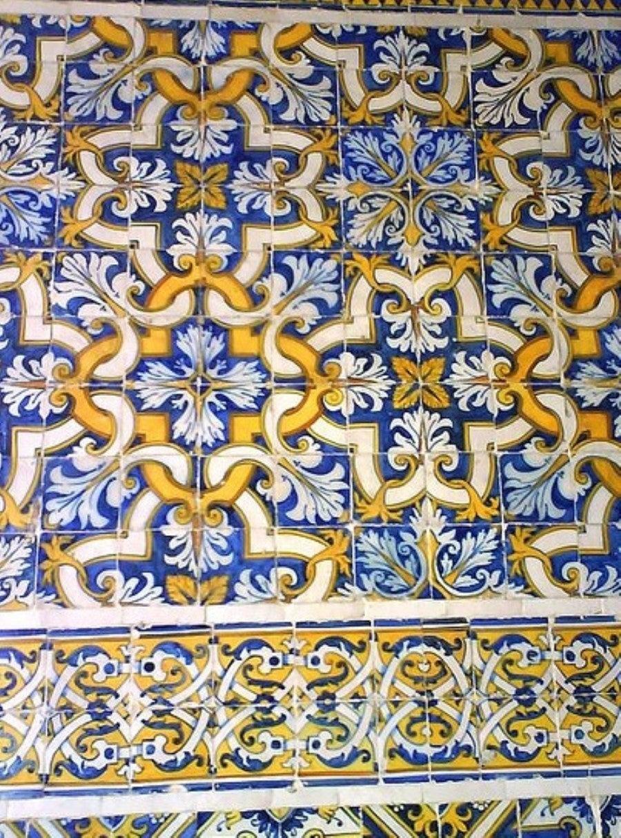 Renaissance 17th Century, Portuguese Tile Pattern For Sale