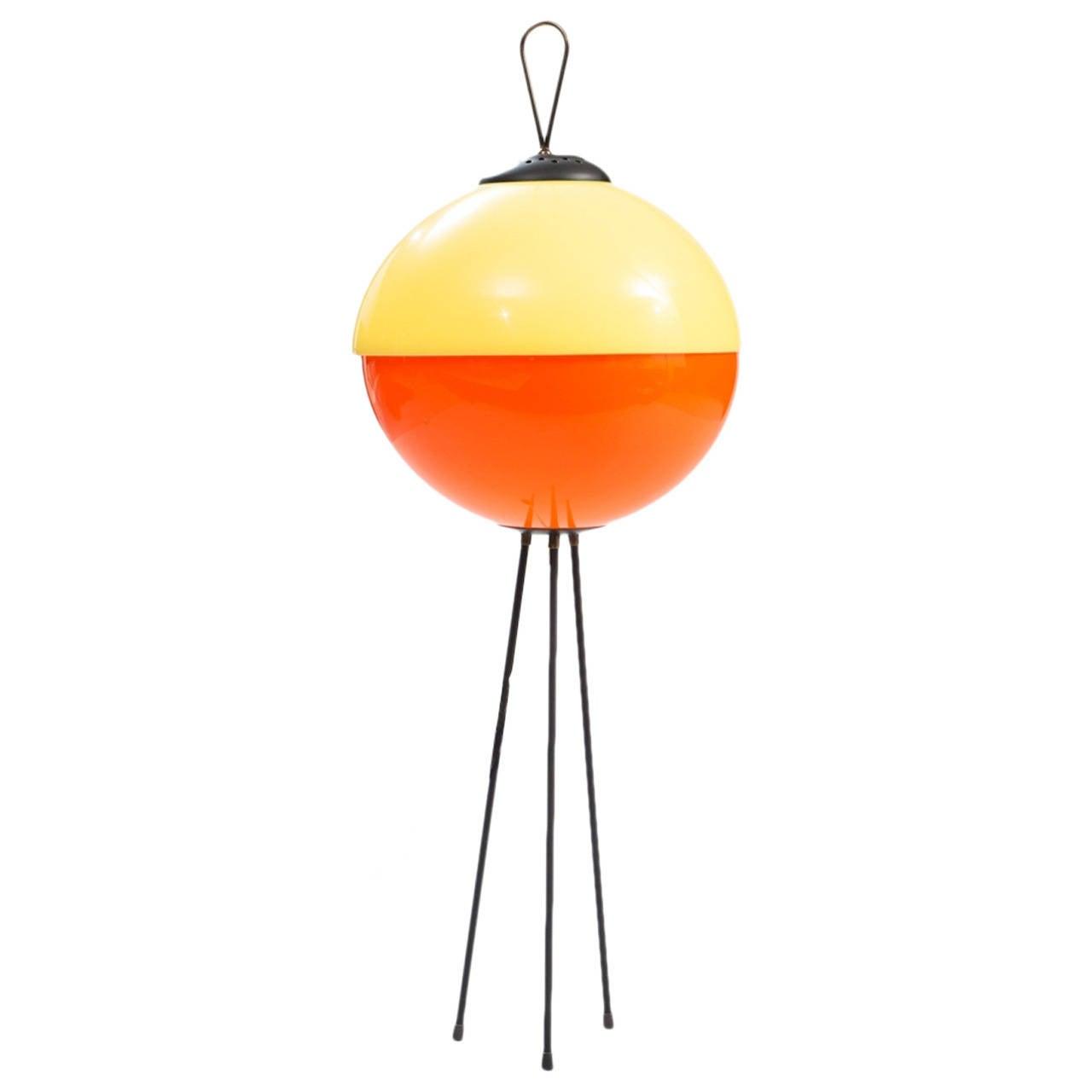 Tripod Midcentury Bicolor Floor Lamp