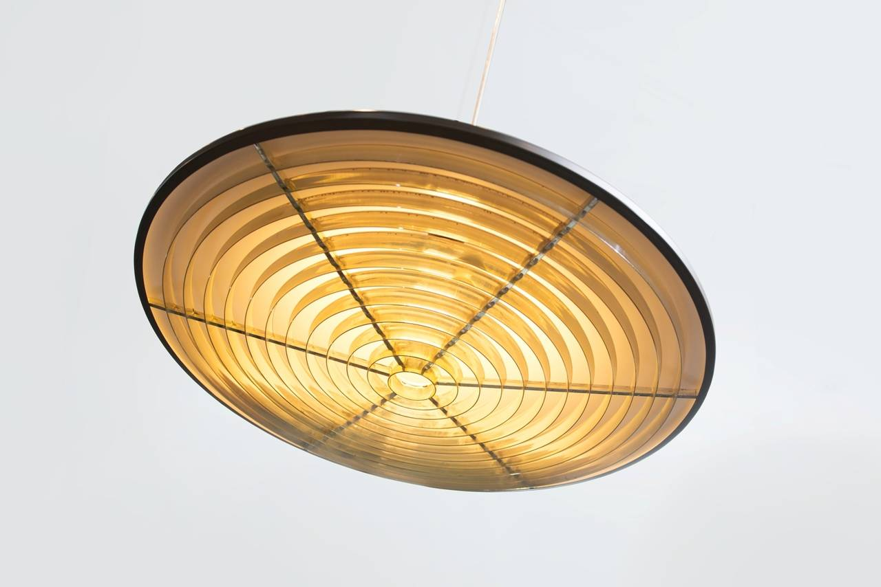 Nordisk solar midcentury ceiling lamp for sale at 1stdibs brown lacquered metal and gild plastic ceiling lamp producer nordisk solar aloadofball