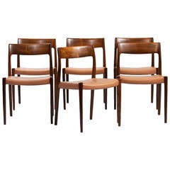 Niels O. Møller Set of Six Chairs