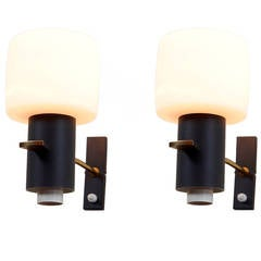 Boris Lacroix Attributed Pair of Wall Lamps