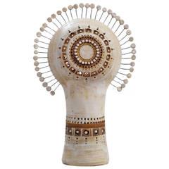 White Ceramic Unglazed Lamp By Pelletier Quot Sun Quot Model