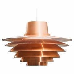 "Svend Middelboe ""Verona"" Copper Lamp"