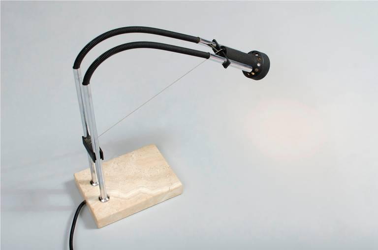Angelo Lelli Desk Lamp for Arredoluce In Good Condition For Sale In Porto, PT