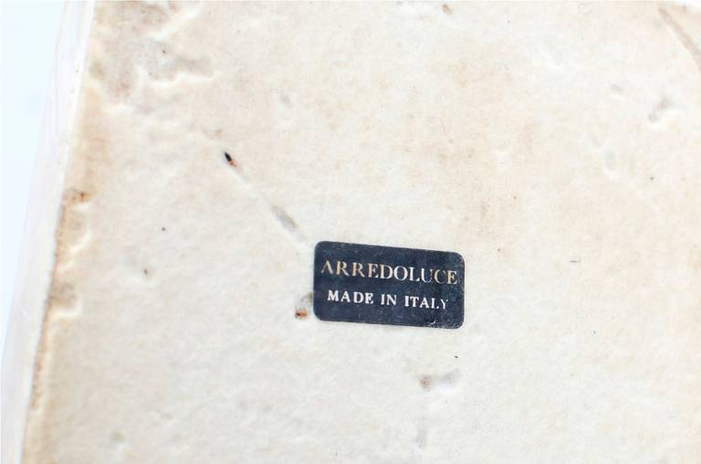 Travertine Angelo Lelli Desk Lamp for Arredoluce For Sale