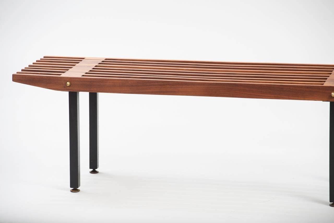 Italian Slatted Coffee Table Or Bench At 1stdibs