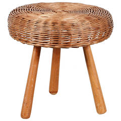 French Wood Stool Circa 1950 For Sale At 1stdibs