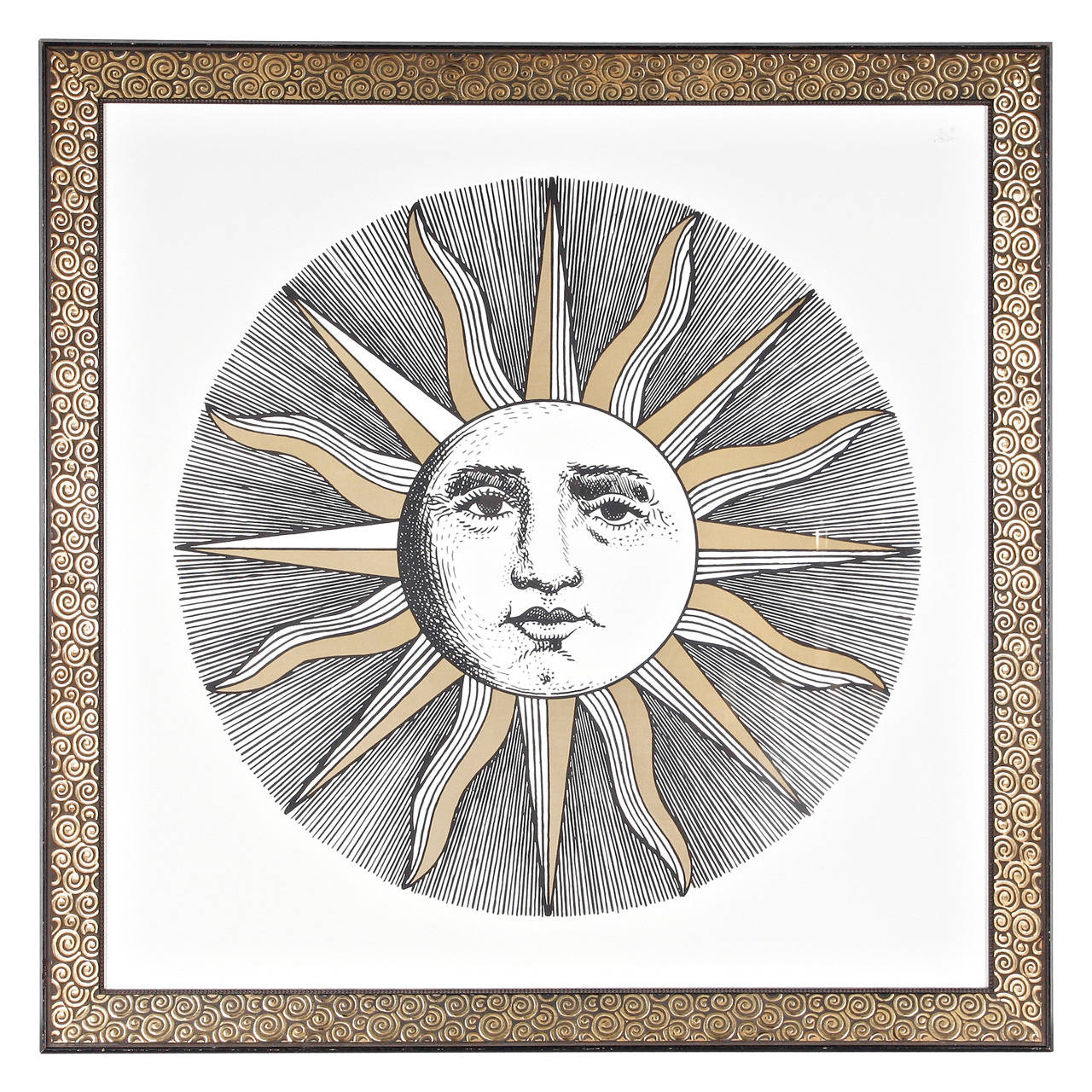 Fornasetti Art Prints Fornasetti Large Silkscreen Poster For Sale At 1stdibs