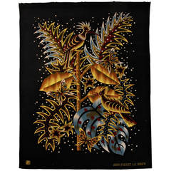 "Jean Picart Le Doux Tapestry ""La Huppe,"" circa 1955"