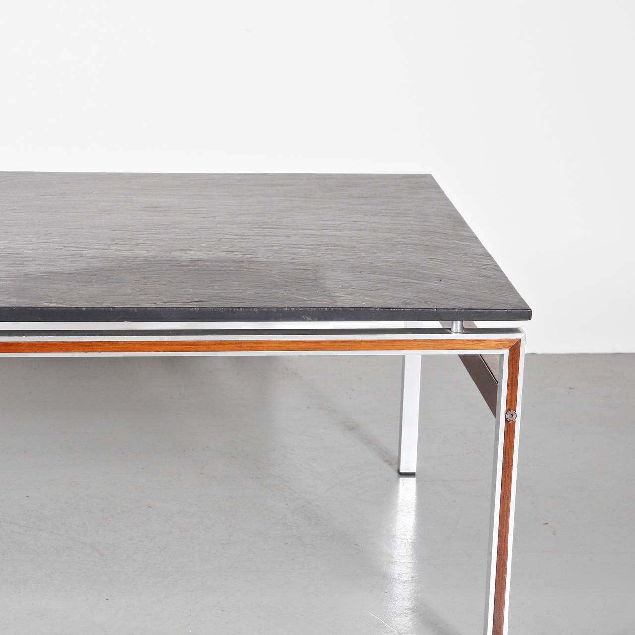 Coffee table with slate stone top denmark circa 1960 for sale at 1stdibs Slate top coffee tables