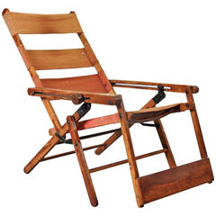 Rare Thonet Deck Chair Model 480, circa 1930
