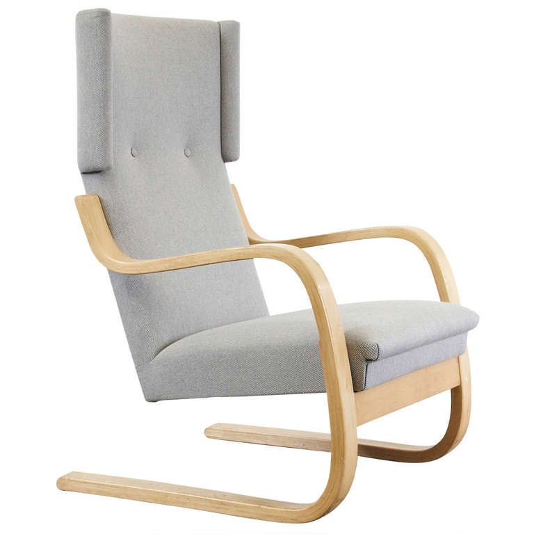 Alvar aalto wingback lounge chair circa 1950 for sale at for Alvar aalto chaise