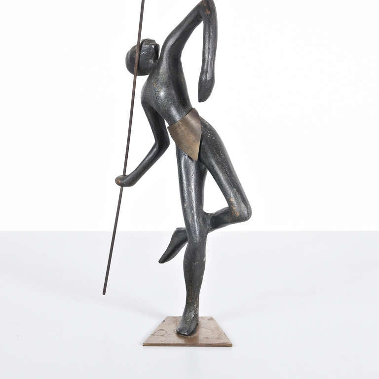 Austrian Bronze Sculpture in the Manner of Hagenauer, circa 1930 In Excellent Condition For Sale In Amsterdam, NL