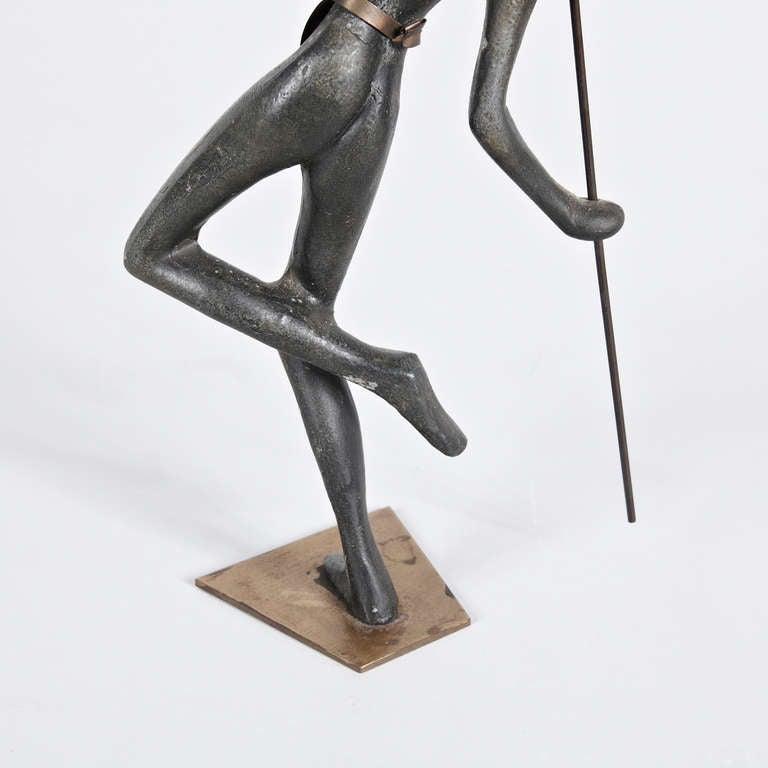 Austrian Bronze Sculpture in the Manner of Hagenauer, circa 1930 For Sale 2