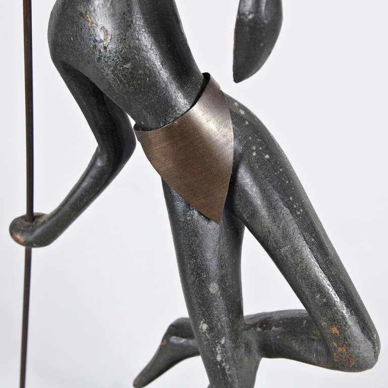Austrian Bronze Sculpture in the Manner of Hagenauer, circa 1930 For Sale 5