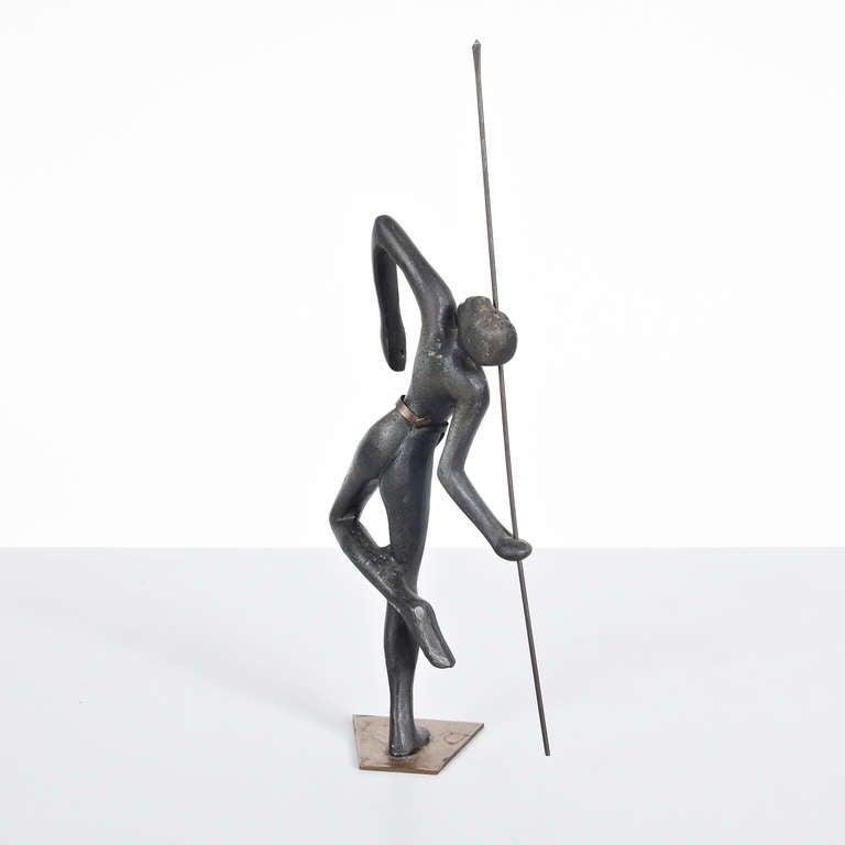 Austrian Bronze Sculpture in the Manner of Hagenauer, circa 1930 For Sale 1